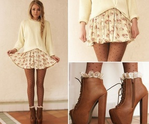 clothes, floral, and cute image