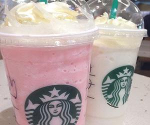 starbucks, pink, and white image