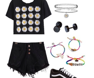 black, daisy, and vans image