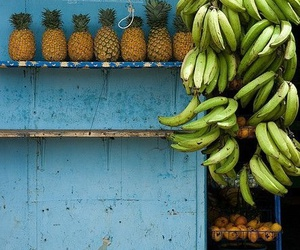 fruit, banana, and summer image