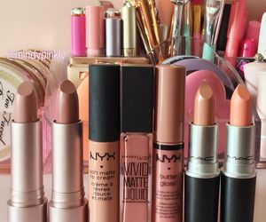 beauty, Lipsticks, and makeup image