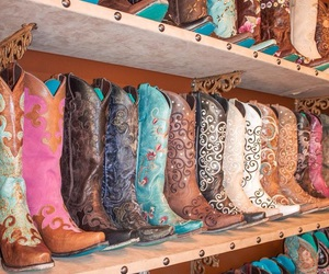 boots, Cowgirl, and fashion image