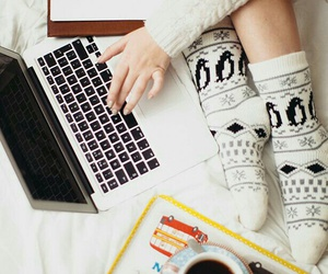 coffee, socks, and winter image