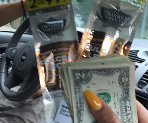 money, nails, and weed image