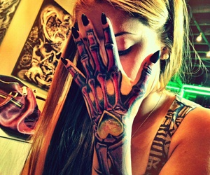girls, heart, and ink image