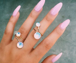 fashion, woman, and ring image