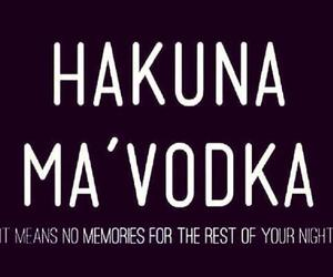 vodka and hakuna matata image