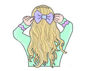 draw, hair style, and illustration image