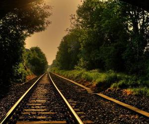background, nature, and railway image