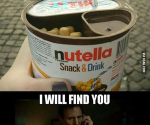 nutella, funny, and chocolate image