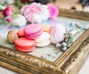 flowers, macarons, and tumblr image