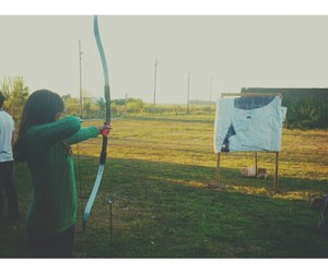 aim, bow and arrow, and bow image