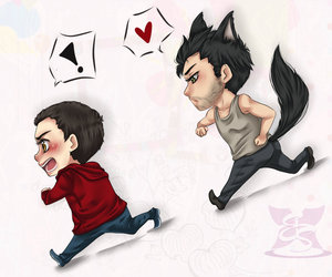 sterek, teen wolf, and derek image