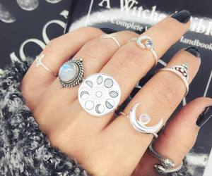 boho, grunge, and jewellery image