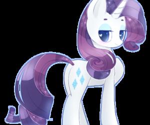 kawaii, rarity, and my little pony image