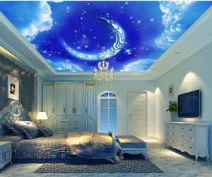 ceiling, beautiful, and bedroom image