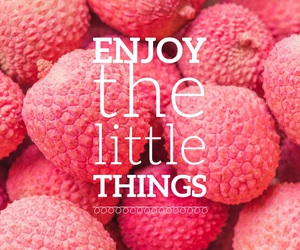 quote, enjoy, and fruit image