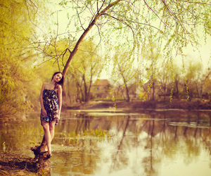 girl, lake, and pretty image