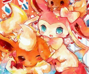 anime, pokemon, and flareon image