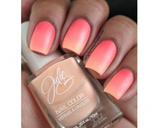nails, beauty, and peach image