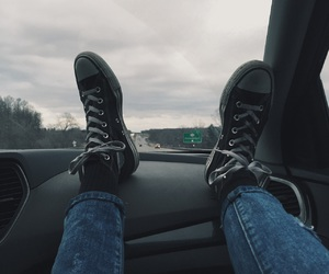 car, dark, and shoes image