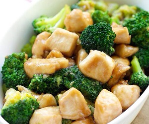 Chicken, food, and broccoli image