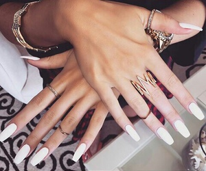 nails, girl, and accessories image