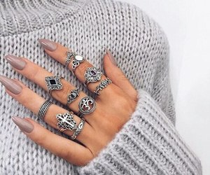 accessories, grey, and nails image