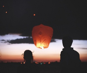 love, light, and couple image