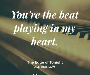 all time low, heart, and Lyrics image