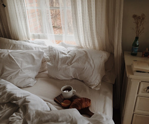 coffee, autumn, and bed image