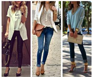 beige, casual, and white image