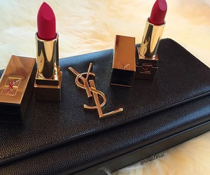 fashion, lipstick, and YSL image