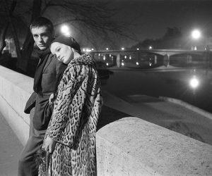 Alain Delon, couple, and fashion image