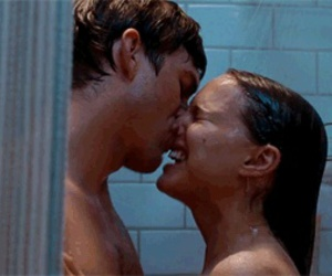 couple, shower, and love image