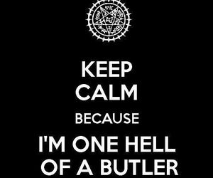 kuroshitsuji, black butler, and keep calm image