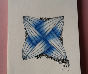 In Blue, doodling, and zentangle image