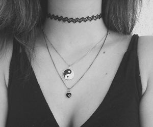 necklace, girl, and grunge image
