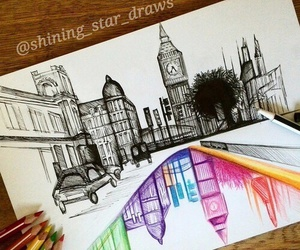 drawing, art, and london image