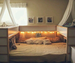 bed, bedroom, and child image