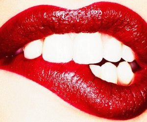 lips, red, and lipstick image