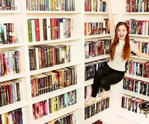 bookshelf, goals, and booktuber image