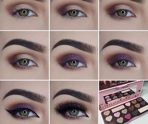 makeup, tutorial, and eyeshadow image