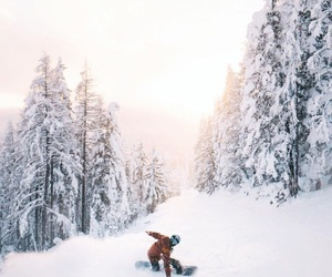 ski, snowboarding, and winter image