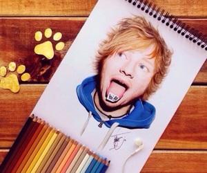 ed sheeran, color, and drawing image