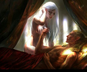anime, couple, and throne of glass image