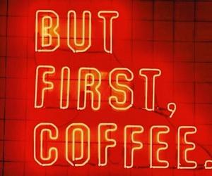 aesthetic, coffee, and neon lights image