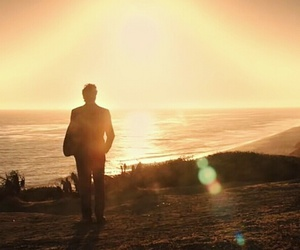 ocean, sunset, and the mentalist image