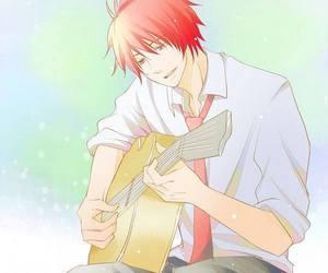 bishounen, anime guitar, and starish image