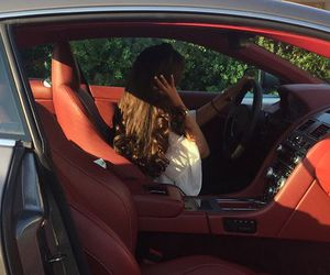 car, girl, and perf image